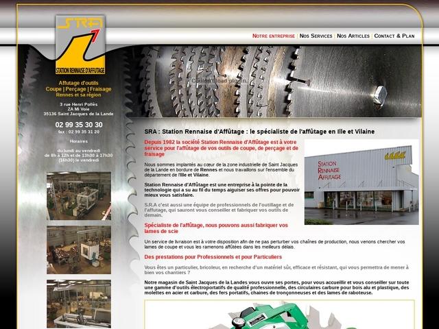 S.R.A sas - (35) - Fabricant scies -Affûtage Outils -Ventes