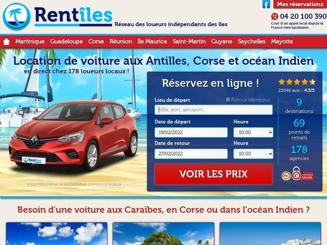 Rentîles Martinique - Location de voiture Martinique