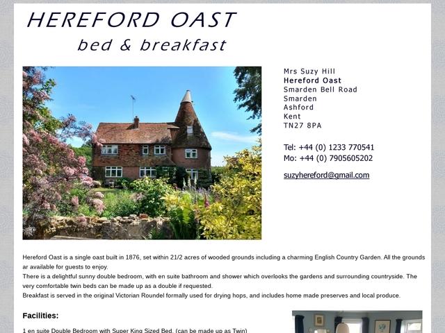 Hereford Oast -  Ashford - Kent - 01233 770541