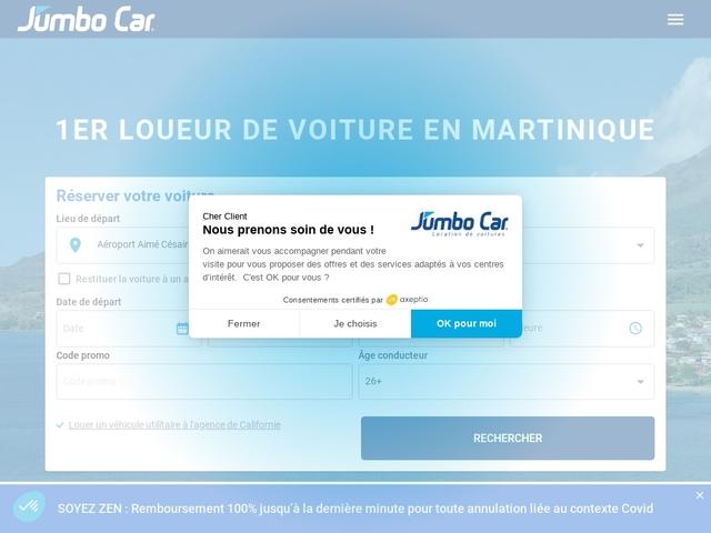 JumboCar Martinique - Location de voiture Martinique