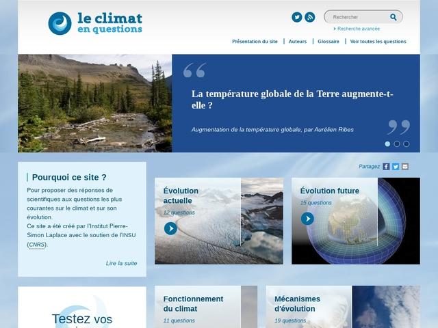 Le climat en questions