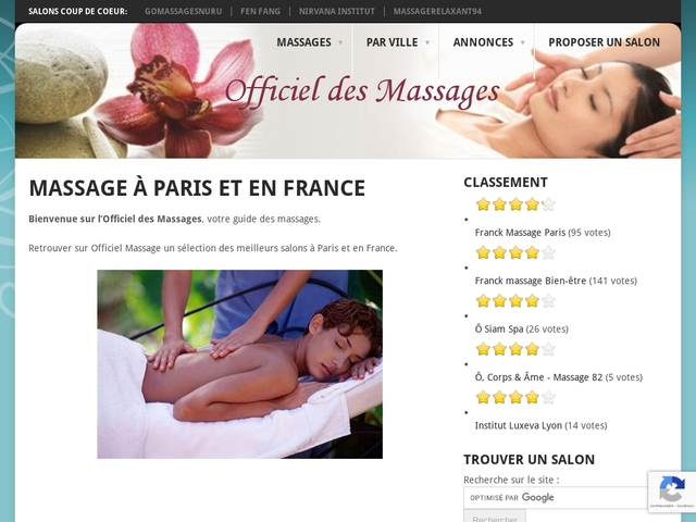 Massages | Officiel Massage