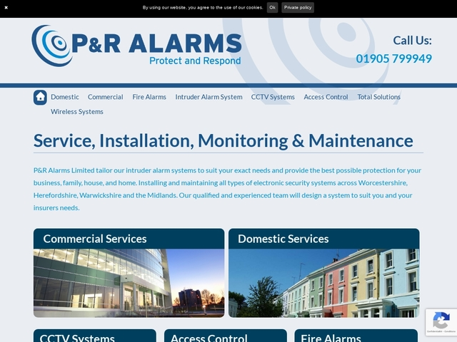 P&R Alarms - Service, Installation, Monitoring & Maintenance