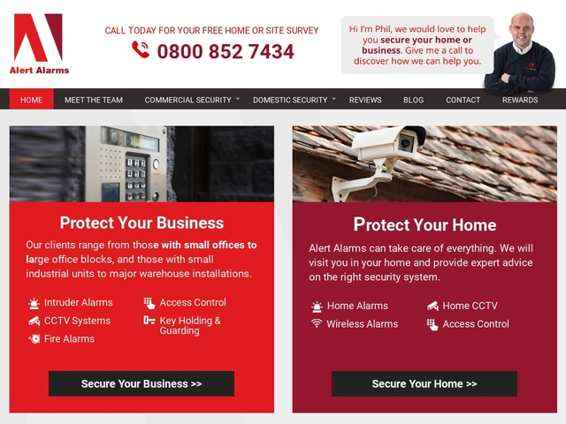 Alert Alarms - Home and Commercial Security - West Midlands -