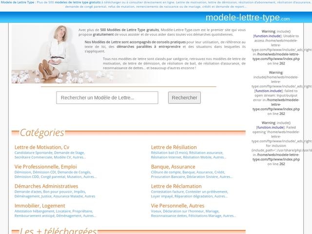 Modèles de lettre type gratuits : 500 Modèles de Lettre à télécharger