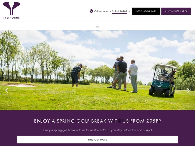 Trethorne Golf Club and Hotel - 01566 86 903