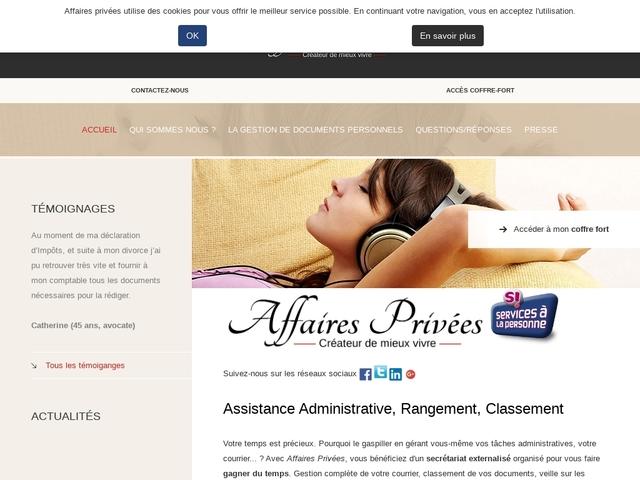 TOUSSIEUX - AFFAIRES PRIVÉES service de secrétariat