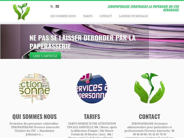 ZEROPAPERASSE aide et assitance administrative