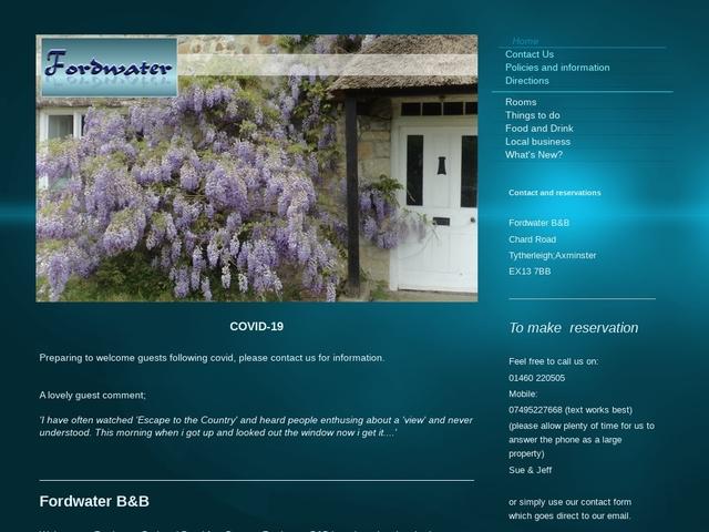 Fordwater B&B, Tytherleigh, Axminster, Devon - 01460 220505