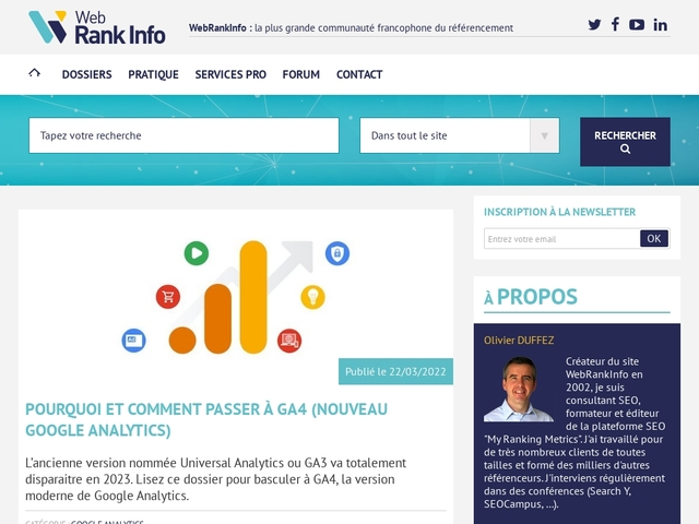 Referencement Google, Bing : actualité, conseils, forum referencement