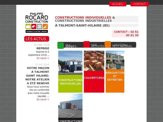 Philippe ROCARD Construction, maçon à Talmont-Saint-Hilaire