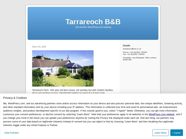 Tarrareoch Farm - EH483BJ - Scotland - 07723955674