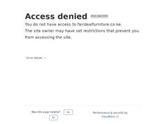 Furniture in Kenya