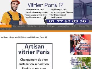 Urgence vitrier Paris 17 - Prestation rapide