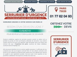 Services d'urgence serrurerie Paris 20