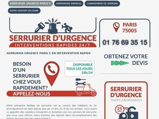 spécialistes en dépannage serrurerie Paris 5
