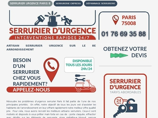 Devis serrurier Paris 8 - Service Rapide