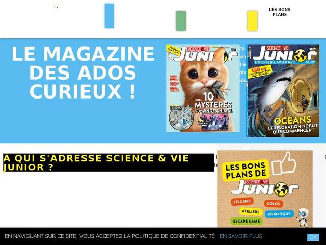 Science & Vie Junior Parce que la curiosité est un très beau défaut