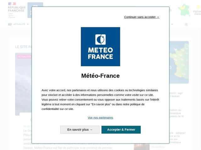 Météo-France : actualités sur la météo et le climat