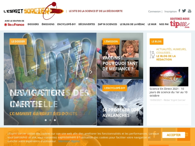 L'Esprit Sorcier : le site de la science et de la découverte