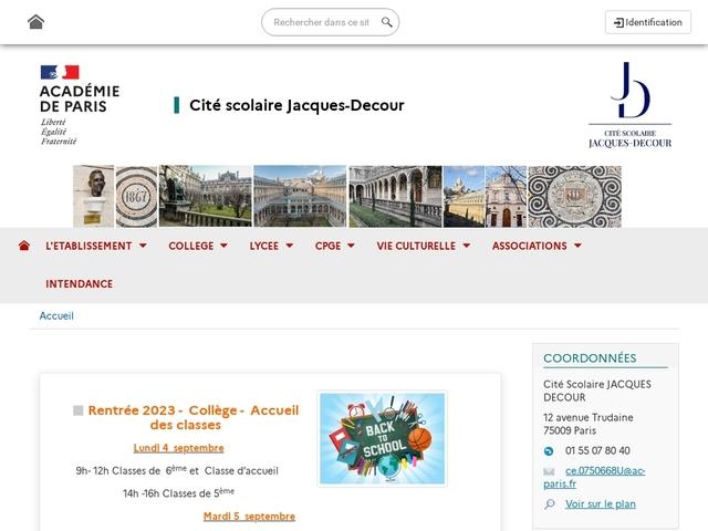 Lycée Jacques Decour (Paris, 9 ème arrondissement)