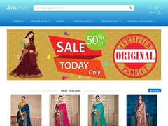 Zeelshops- Largest collection of sarees, Salwar suits, Kurtis, etc