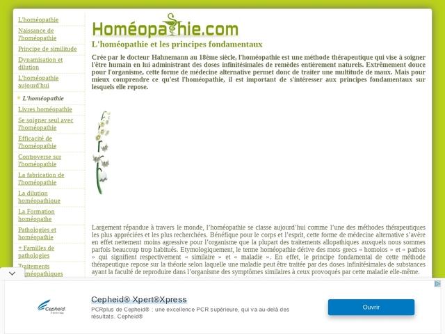 Guide de l'Homéopathie - Homéopathie.Com