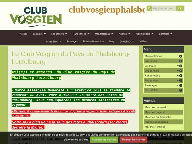 Club vosgien du Pays de PHALSBOURG - LUTZELBOURG