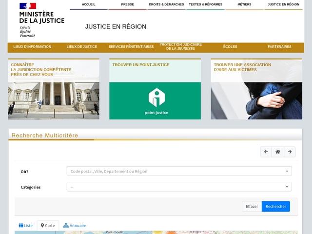 Annuaire des maisons de justice et du droit