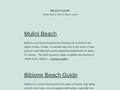 guide des plages du monde