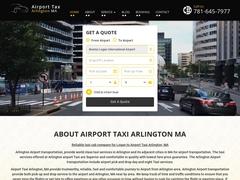 Boston logan airport taxi service