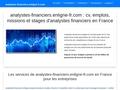 analystes-financiers.enligne-fr.com : Le portail emplois, missions et stages des analystes financiers