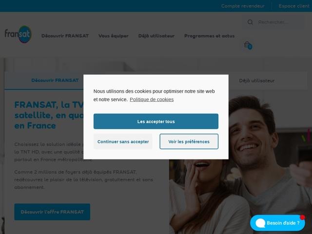 FRANSAT Télévision Numérique › La TNT gratuite par satellite