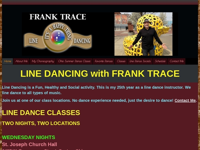 Home - Line Dancing With Frank Trace in Canton and Massillon