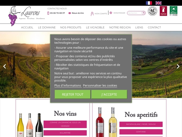 Domaine Laurens : Vente vins Aveyron, vin de Marcillac -