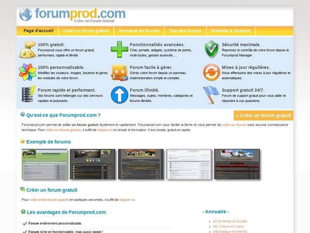 Créer un forum gratuit - Forumprod.com