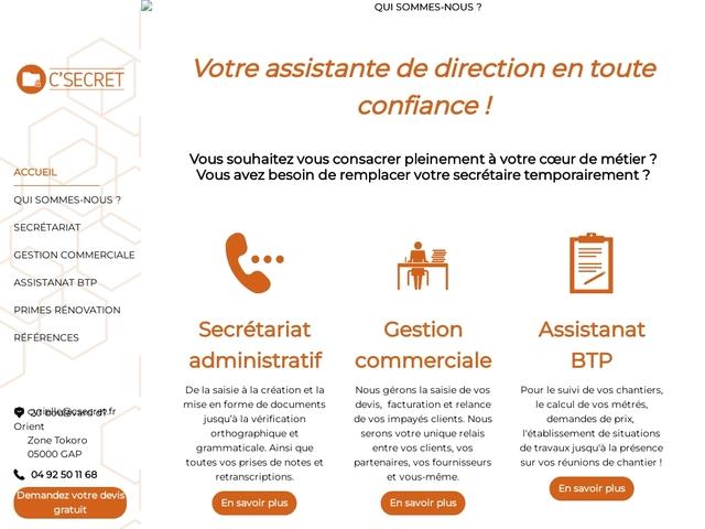 GAP - C'SECRET : télésecrétariat, informatique
