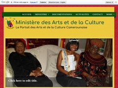 Ministère des arts et de la culture.