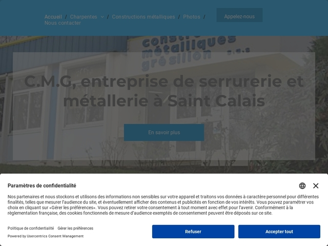 C.M.G sa - (72) - Serrurerie - Métallerie - Constr Métall.