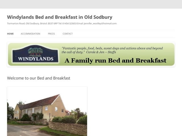 Windylands B&B - Old Sodbury - Bristol - England.