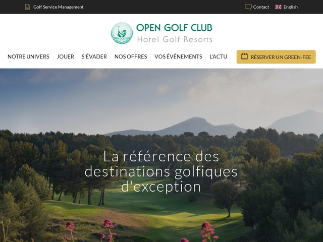 Open Golf Club - Réservation en ligne Séjour & Hôtel Golf -