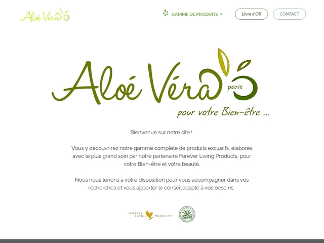 Aloe Vera Paris - Forever Living Products - Distributeur Agréé France