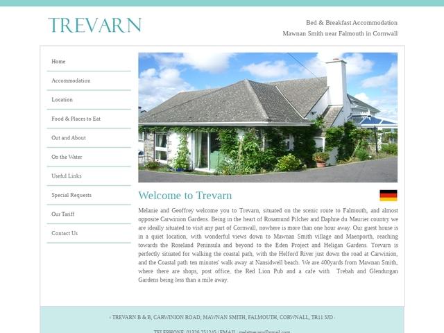 Trevarn B&B - Falmouth - Cornwall - England.