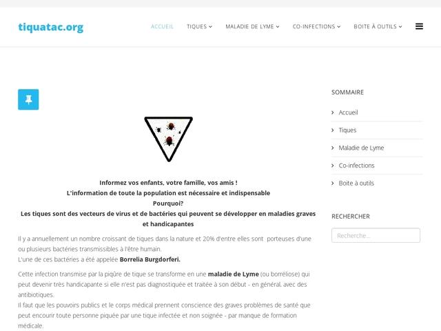 Tiquatac (Alerte aux tiques)