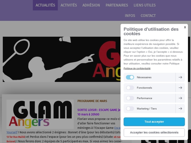 GLAM Gays et Lesbiennes Association Multisports Angers