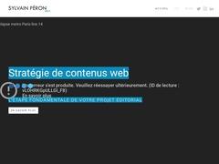 Sylvain Péron - Site personnel CV et Réali..