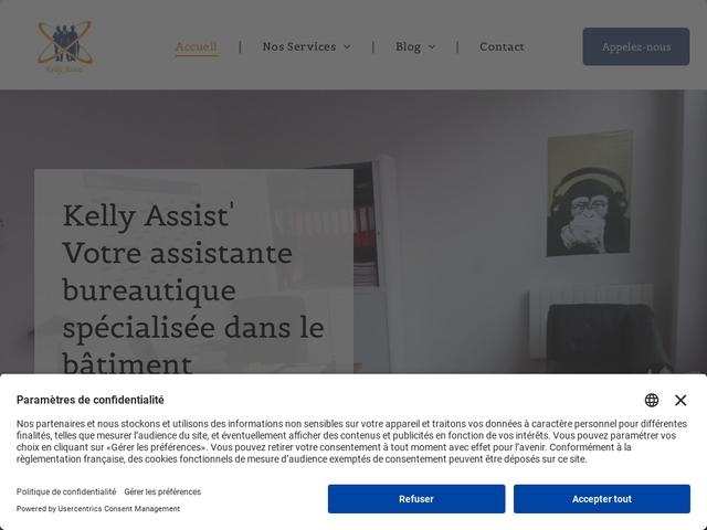 SAINT JEAN D'HEURS - KELLY ASSIST' assistante indépendante