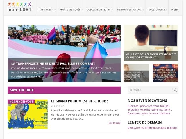 L'Interassociative lesbienne  gaie bi et trans (Inter-LGBT)