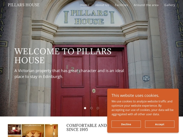 Pillars House - Constitution St - Edinburgh - Scotland.