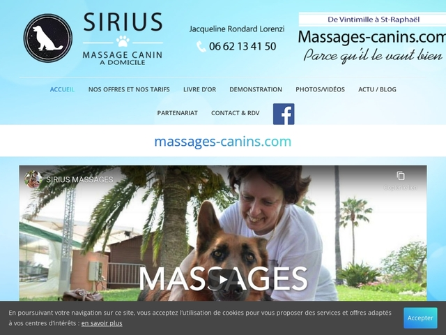 SIRIUS MASSAGES CANINS
